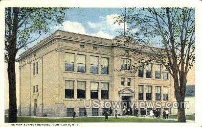 Homer Ave. School - Cortland, New York NY Postcard