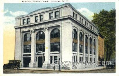 Cortland Savings Bank - New York NY Postcard