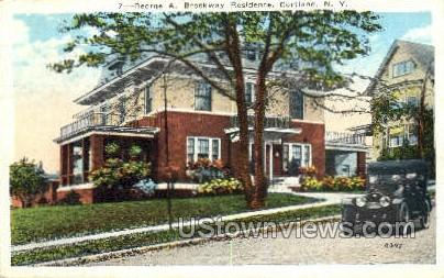 George A. Brockway Residence - Cortland, New York NY Postcard