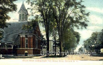 Church St. - Cortland, New York NY Postcard