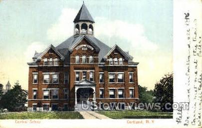 Central School - Cortland, New York NY Postcard
