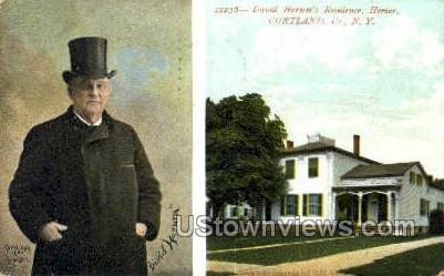 David Harum's Residence - Cortland, New York NY Postcard