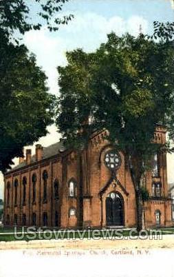 First Methodist Episcopal Church - Cortland, New York NY Postcard