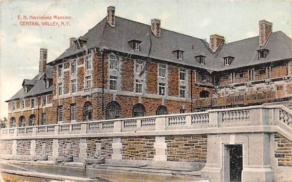 EH Harrimans Mansion Central Valley, New York Postcard