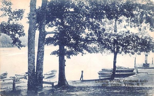 Looking Across Cromwall Lake Central Valley, New York Postcard