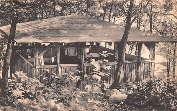 Cabin at Summit Lake Camp Central Valley, New York Postcard