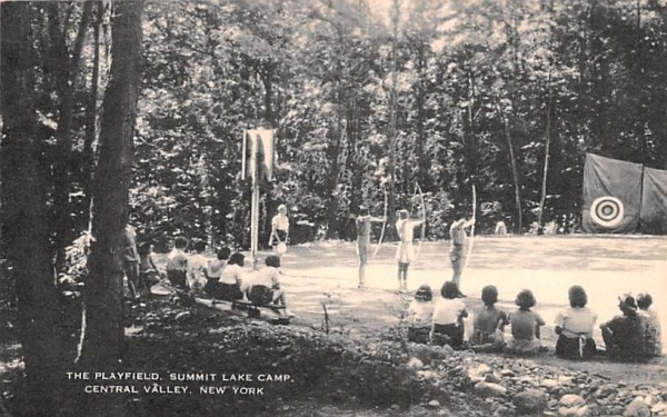 Playfield Central Valley, New York Postcard