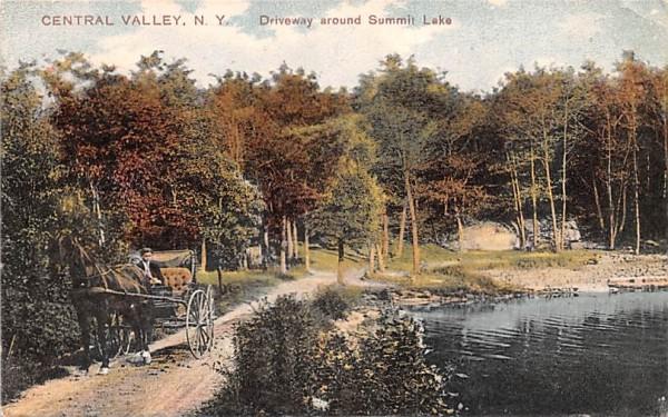 Driveway around Summit Lake Central Valley, New York Postcard