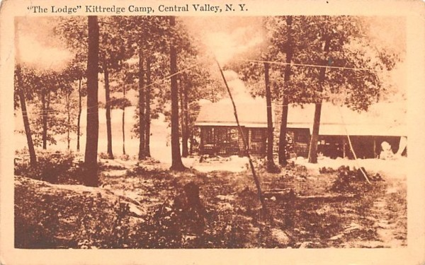 The Lodge Kittredge Camp Central Valley, New York Postcard