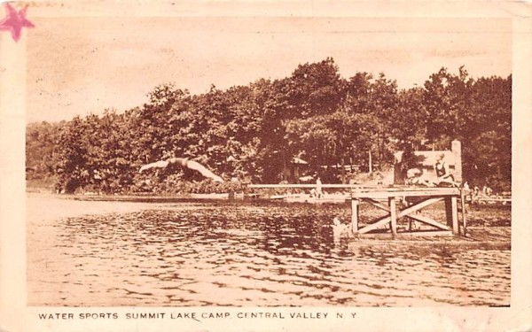 Summit Lake Camp Central Valley, New York Postcard