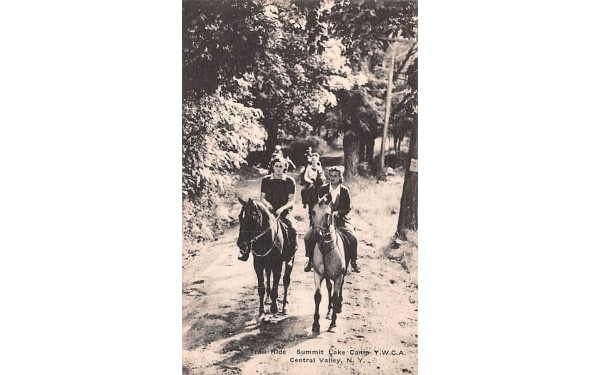 Trail Ride Central Valley, New York Postcard