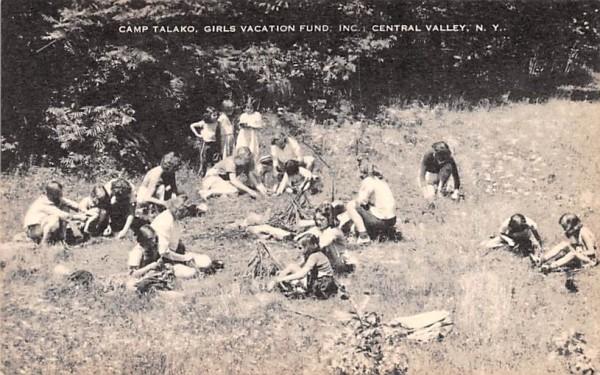 Camp Talako Central Valley, New York Postcard