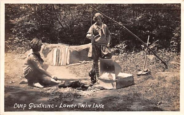 Camp Quidnunc Central Valley, New York Postcard