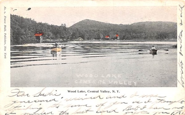 Wood Lake Central Valley, New York Postcard