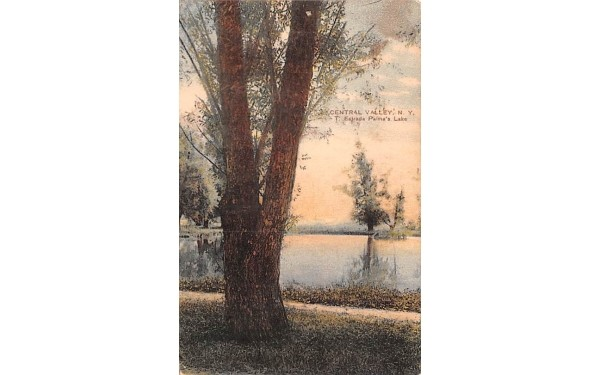 T Estrada Palma's Lake Central Valley, New York Postcard