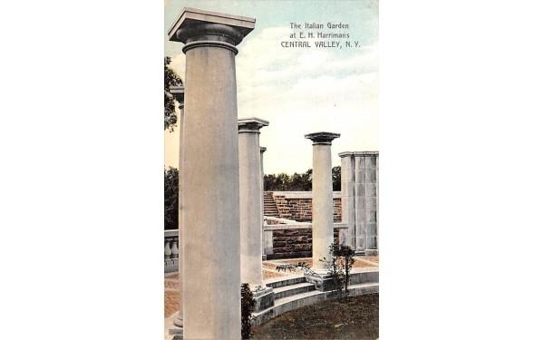 Italian Garden Central Valley, New York Postcard