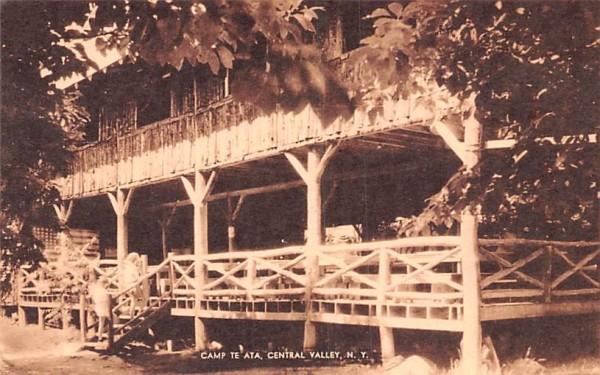 Camp Te Ata Central Valley, New York Postcard