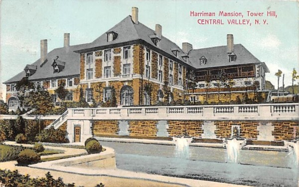 Harriman Mansion Central Valley, New York Postcard