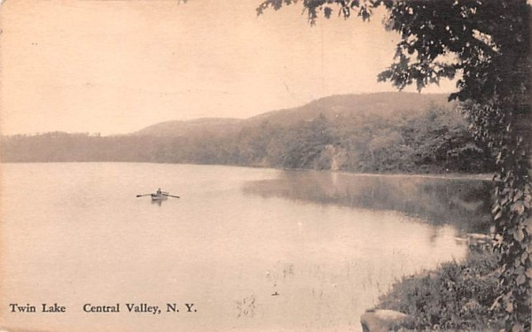 Twin Lake Central Valley, New York Postcard
