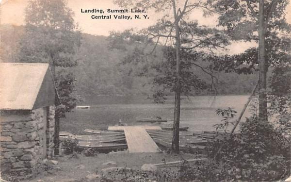 Landing, Summit Lake Central Valley, New York Postcard