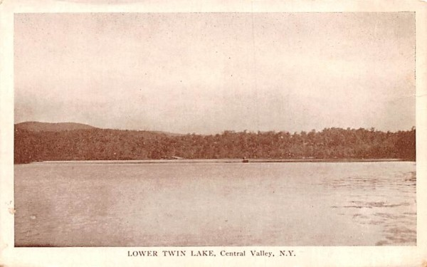 Lower Twin Lake Central Valley, New York Postcard