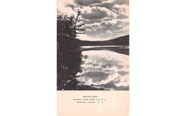 Reflections Central Valley, New York Postcard