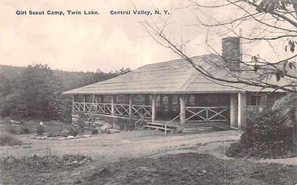 Girl Scouts Camp Central Valley, New York Postcard