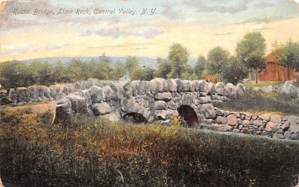 Rustic Bridge Central Valley, New York Postcard