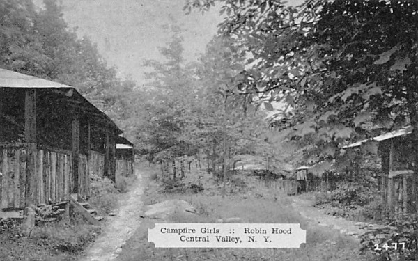 Campfire Girls Central Valley, New York Postcard
