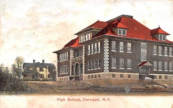 High School Cornwall, New York Postcard