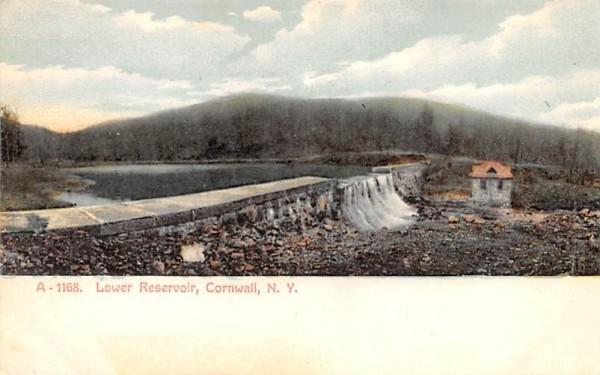 Lower Reservoir Cornwall, New York Postcard