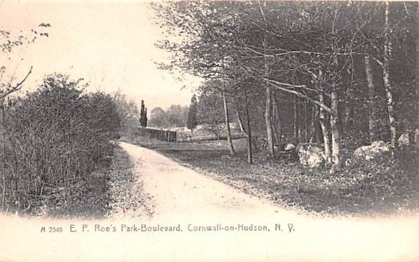 EP Roe's Park Boulevard Cornwall, New York Postcard