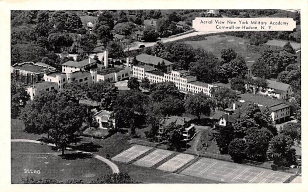 Aerial View of New York Military Academy Postcard