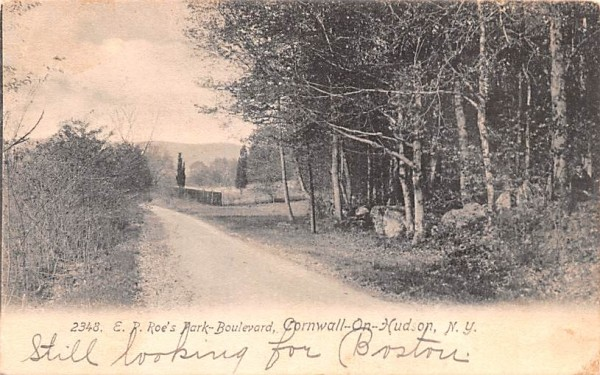 ER Roe's Park Boulevard Cornwall, New York Postcard