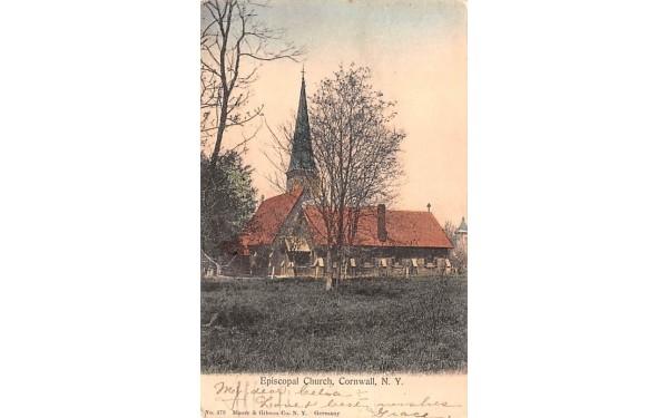 Episcopal Church Cornwall, New York Postcard
