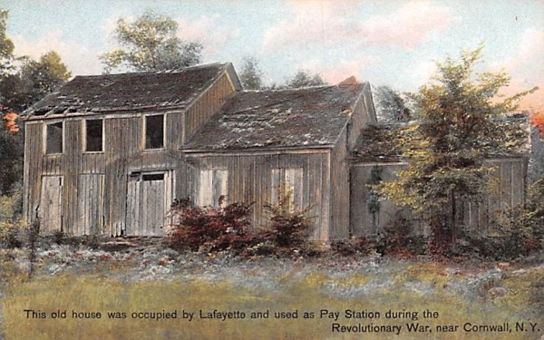 Old House occupied by Lafeyette Cornwall, New York Postcard
