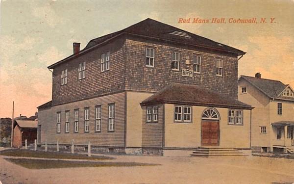 Red Mans Hall Cornwall, New York Postcard