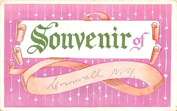Souvenier Cornwall, New York Postcard