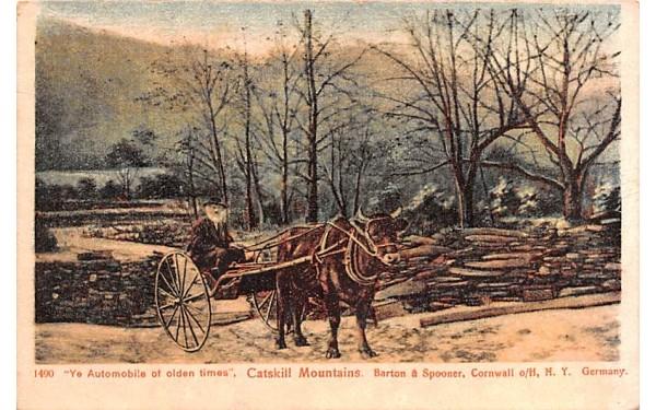 Ye Automobile of Olden Times Cornwall, New York Postcard