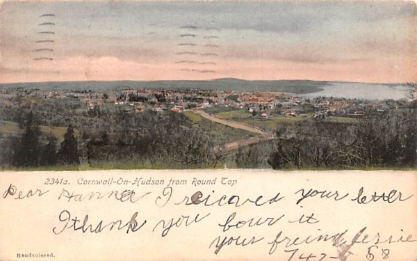 From Round Top Cornwall, New York Postcard