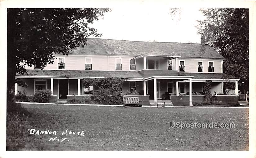 Banner House - Chateaugay, New York NY Postcard