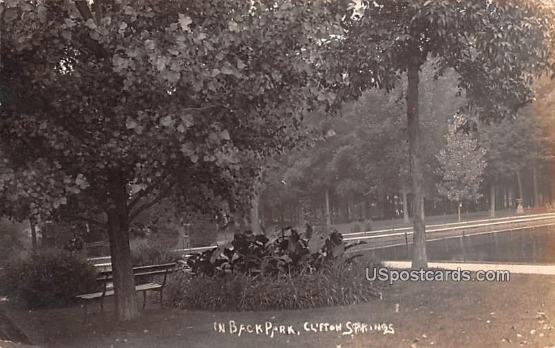 In Back Park - Clifton Springs, New York NY Postcard