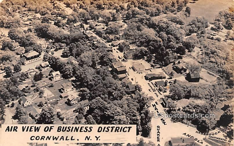 Air View of Business District - Cornwall, New York NY Postcard