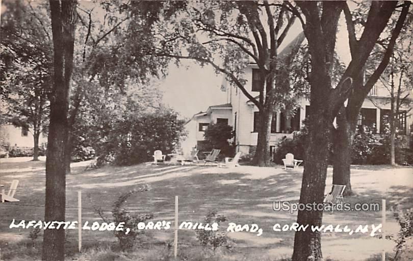 Lafayette Lodge - Cornwall, New York NY Postcard