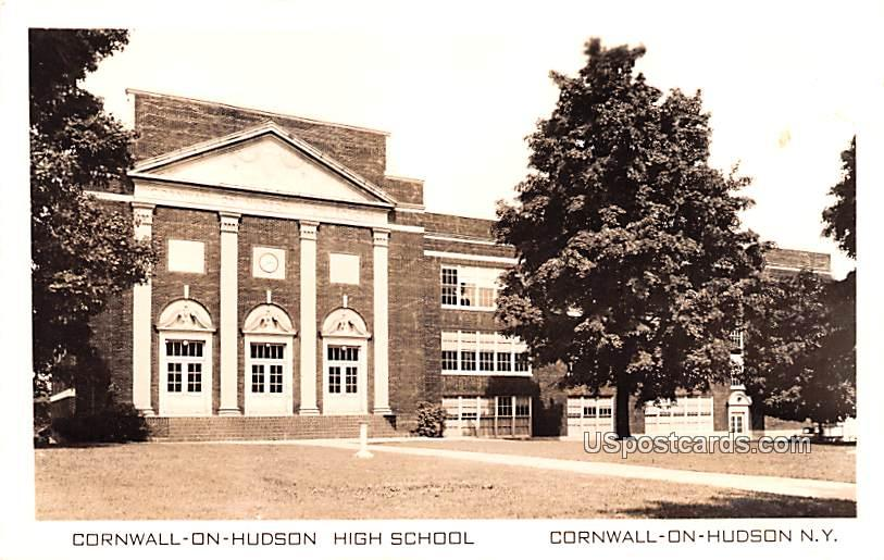 Cornwall on Hudson High School - New York NY Postcard
