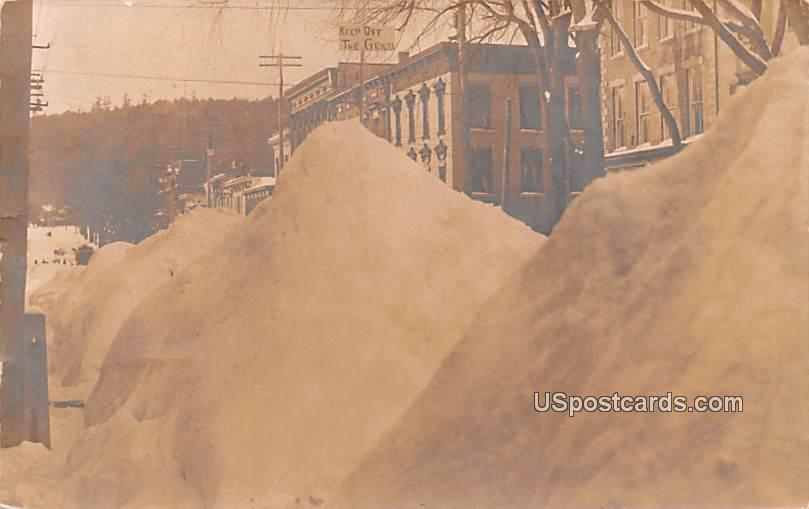 Winter Scene - Cooperstown, New York NY Postcard