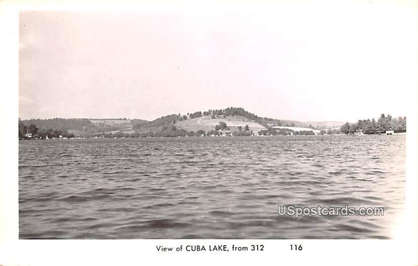 Lake View - Cuba Lake, New York NY Postcard