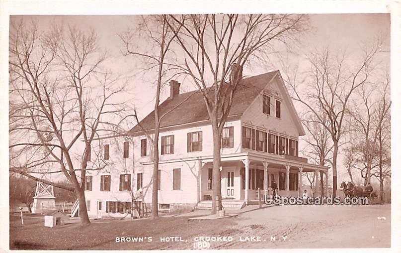Brown's Hotel - Crooked Lake, New York NY Postcard