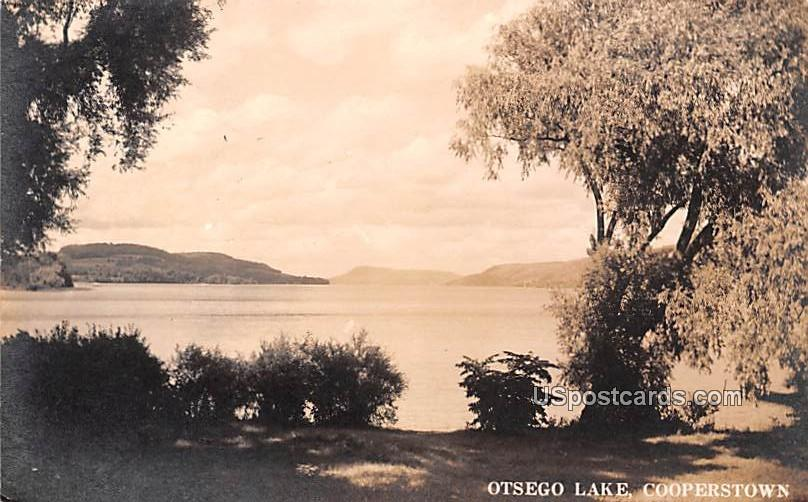 Otsego Lake - Cooperstown, New York NY Postcard
