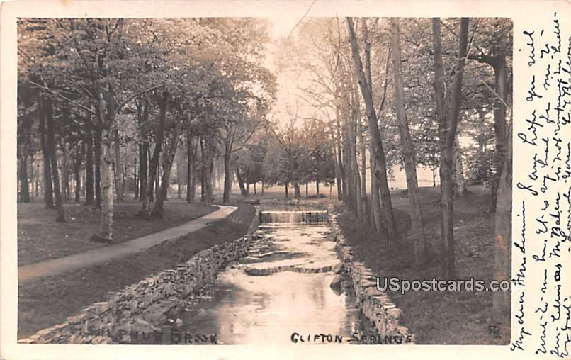 Sulphur Brook - Clifton Springs, New York NY Postcard